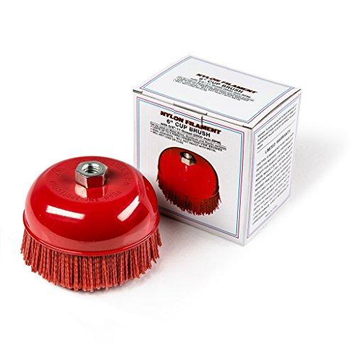 6 Cup Brush Nylon Filament 58-11 Thread 2500 maxRPM