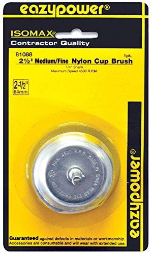 Eazypower 81088 Medium-Fine Nylon Cup Brush 1-Pack 2-12