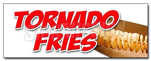 36 TORNADO FRIES DECAL sticker spiral cut deep fried on a stick potatoes
