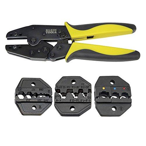 Klein Tools Ratcheting Crimper Kit wDies