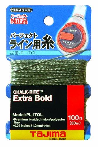 Tajima PL-ITOL Chalk-Rite Premium Grade Extra Bold Nylon Line 1 mm Thick by 100-Feet