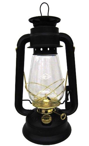 V&O 210-21000 Pathfinder Brass Trim Oil Lantern Black