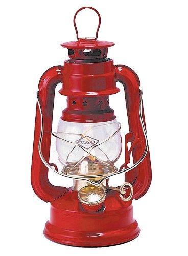 V&O 210-51030 Little Camper Brass Trim Oil Lantern Red