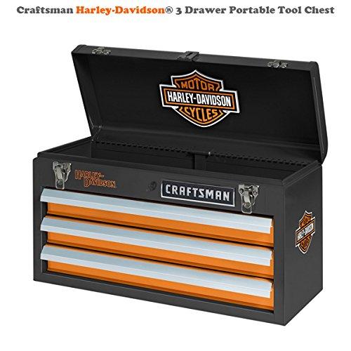 Craftsman Harley-Davidson3 Drawer Portable Tool Chest organize tools rugged heavy duty tool box 00935547000P