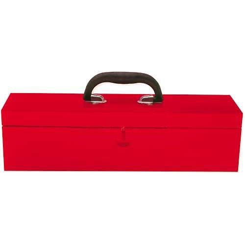 URREA Metal Tool Box - 18 x 48 x 48 Tool StorageOrganization Box with 24 Gauge Construction Durable Red Finish - 5493