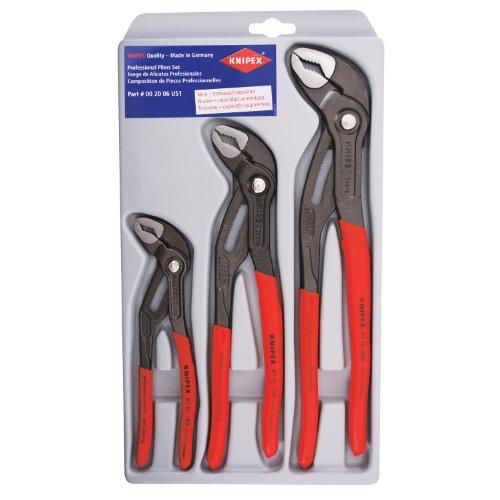 Knipex 002006S1 3-Piece Cobra Pliers Set 7-Inch 10-Inch 12-Inch
