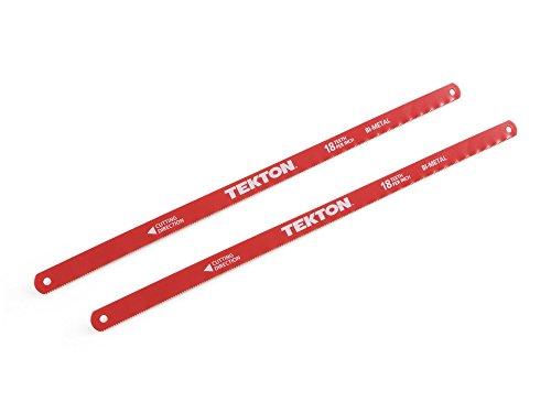 TEKTON 6832 12-Inch by 18 TPI Bi-Metal Hacksaw Blades 2-Piece