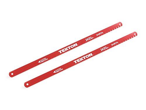 TEKTON 6833 12-Inch by 24 TPI Bi-Metal Hacksaw Blades 2-Piece
