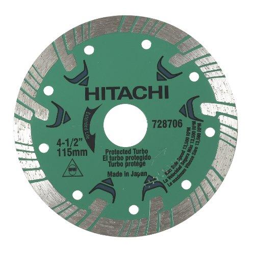 Hitachi 728706 4-12-Inch Turbo Diamond Saw Blade for Concrete and Masonry Dry Cut
