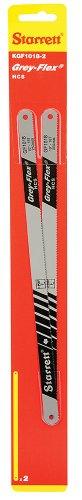 Starrett KGF1018-2 High Carbon Steel Grey Flex Hand Hacksaw Blade 0025 Thick 18 TPI 10 Length x 12 Width Pack of 2