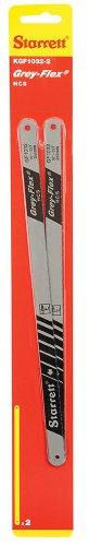 Starrett KGF1032-2 High Carbon Steel Grey Flex Hand Hacksaw Blade 0025 Thick 32 TPI 10 Length x 12 Width Pack of 2