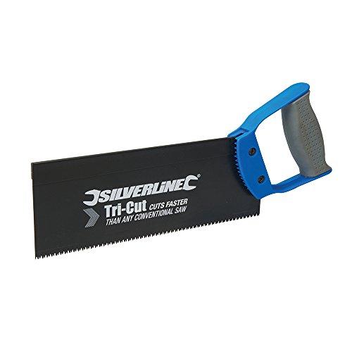 250mm Silverline 12tpi Tri-cut Tenon Saw