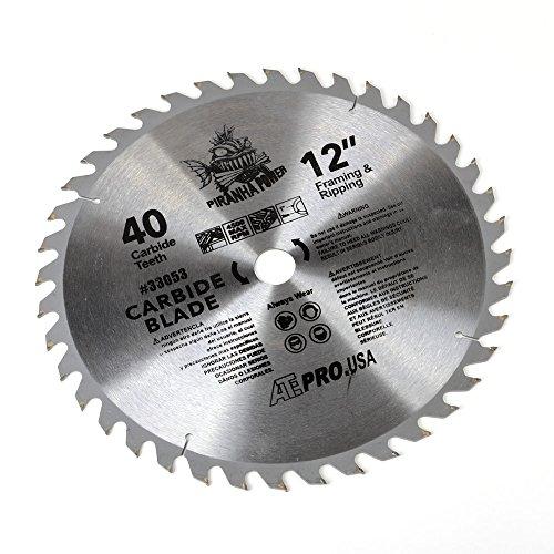 ATE Pro USA 33053 Carbide Saw Blade 12 40-Teeth