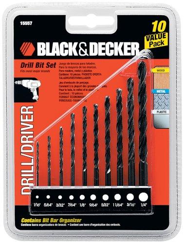 Black Decker 15557 Drill Bit Set 10-Piece