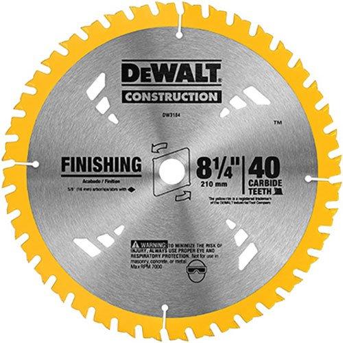 DEWALT DW3184 Series 20 8-14-Inch 40 Tooth ATB Thin Kerf Saw Blade with 58-Inch Arbor