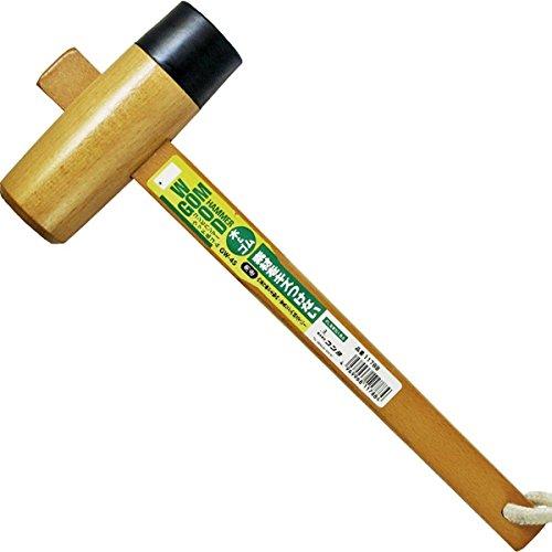 Japanese Sun UP Carpenter Wood Rubber Hammer Mallet Kiduchi Tool 45mm GW-45