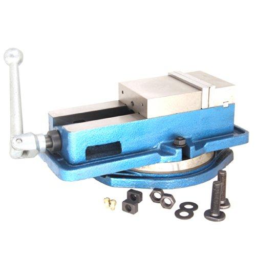 HFS Tm 5 Milling Machine Lockdown Vise - 360 Degree Swiveling Base - Hardened Metal - CNC Vise  Blue  Width 5 Open Length  5