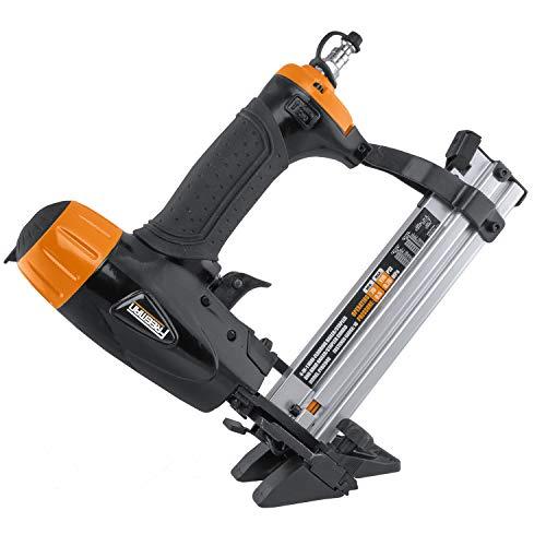 Freeman PFBC940 Pneumatic 4-in-1 18-Gauge 1-58 Mini Flooring Nailer and Stapler Ergonomic and Lightweight Flooring Nail Gun with Tool-Free Quick Release Latch