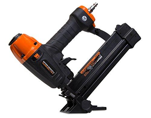 WEN 61741 4-in-1 18-Gauge Pneumatic Flooring Nailer and Stapler with Case